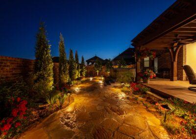 Outdoor Lighting Tulsa Living Water 9
